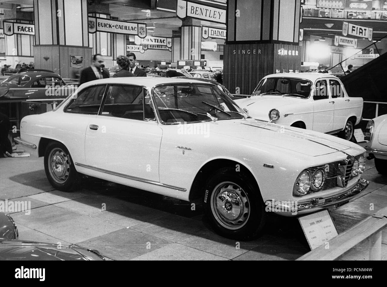 1961 Alfa Romeo 2000 Sprint Coupe at Earls Court show - Stock Image
