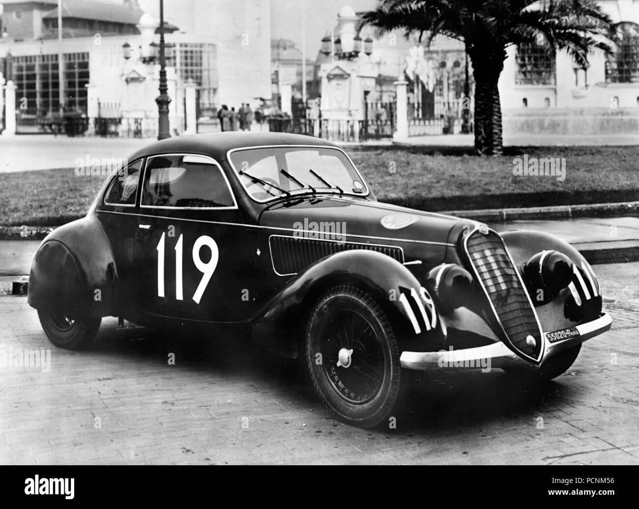 1937 Alfa Romeo 6C2300 Mille Miglia - Stock Image