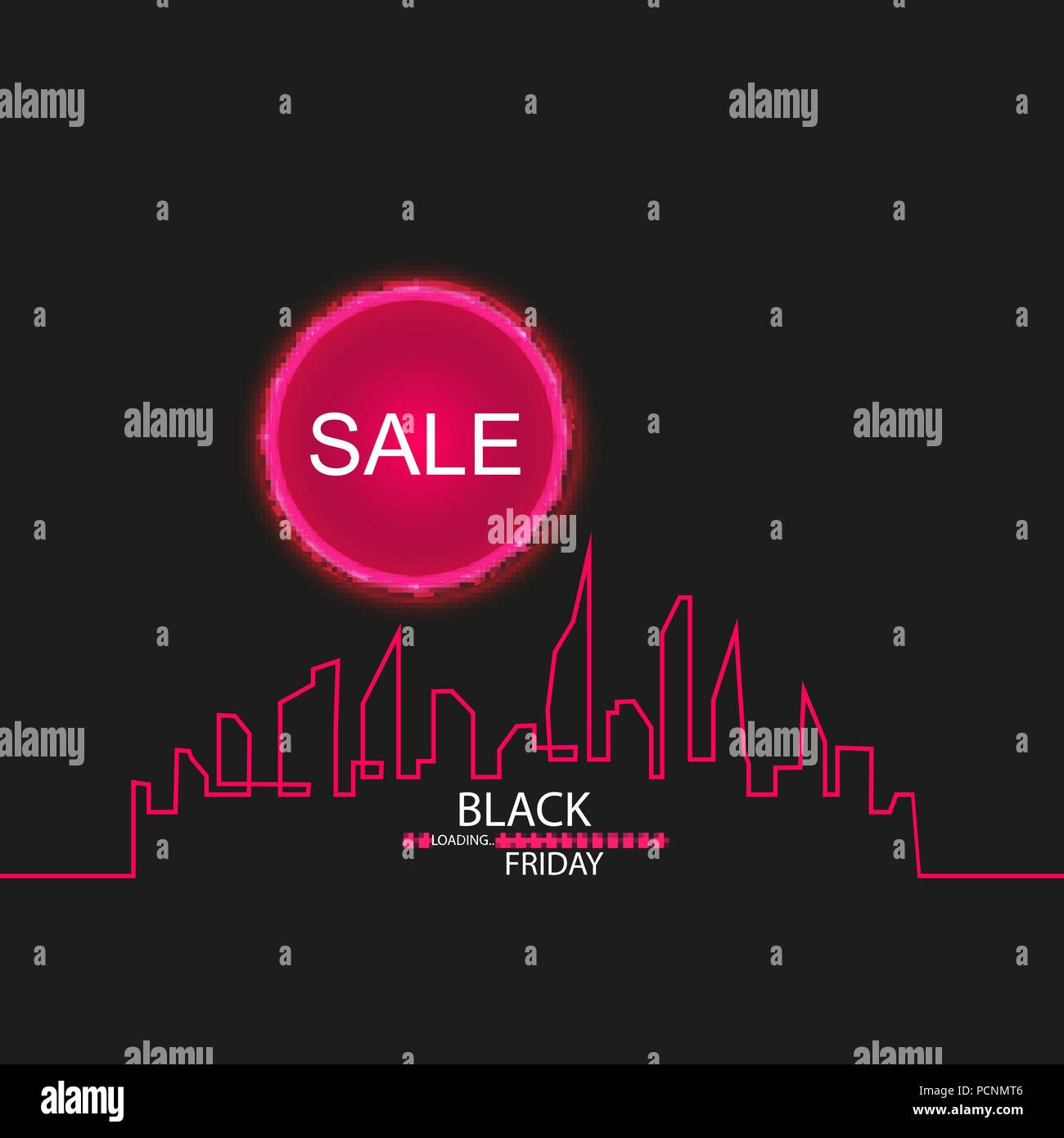 Black Friday In The City The Perfect Sale White Ribbon Banner In