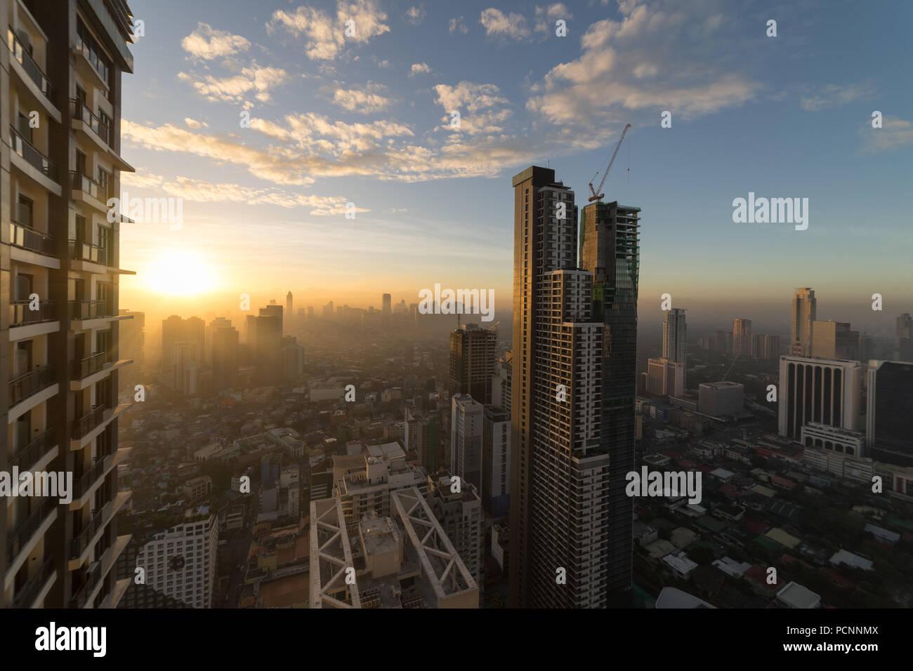 Manila city taken from a high rise condominium - Stock Image