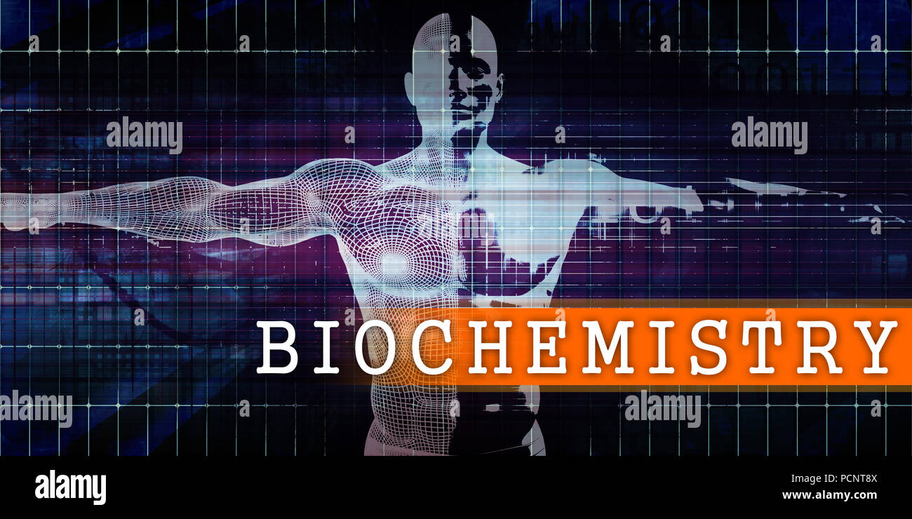 Biochemistry Medical Industry with Human Body Scan Concept - Stock Image