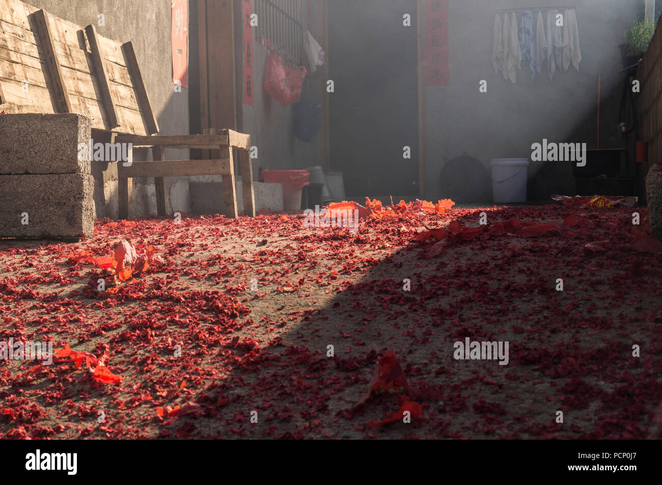 The morning after Chinese New Year - Stock Image