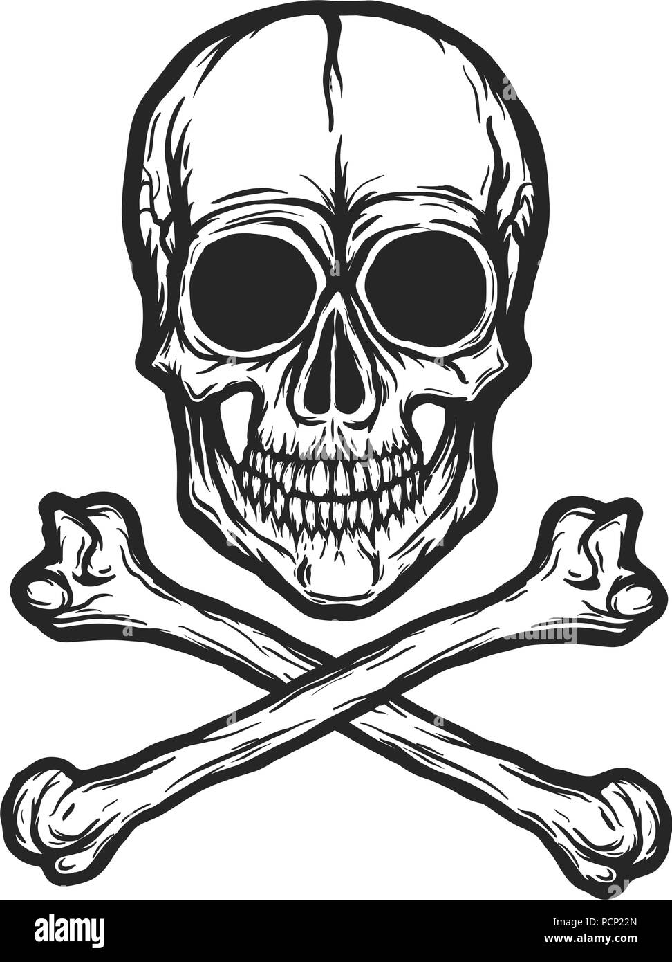 8c56d3163a0af Skull Tattoo Black and White Stock Photos & Images - Alamy