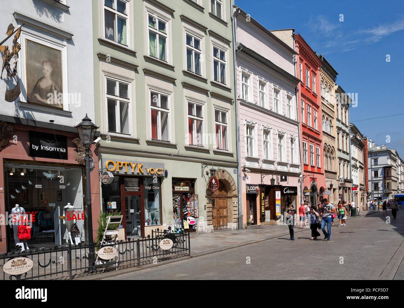 people in old town krakow, lesser poland, poland, europe Stock Photo