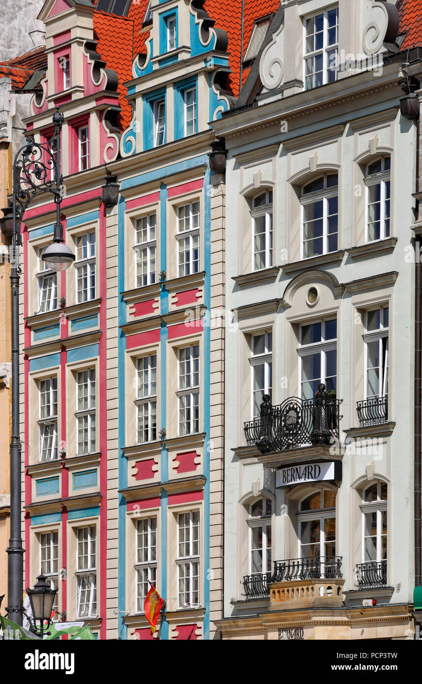 old town with rynek. wroclaw, breslau, lower silesia, poland, europe - Stock Image