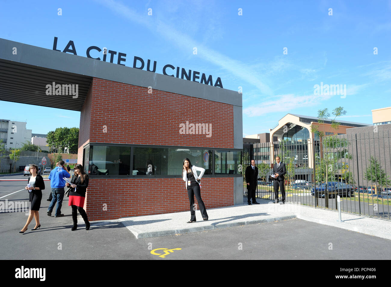 September 21, 2012 - Saint-Denis, France: French filmmaker Luc Besson unveils his 'cinema city' (Cite du Cinema) on the edge of Paris. The 170-million-euros project is the largest film studio facility ever built in France, which earned it the nickname 'Hollywood on Seine'. The former art deco power station compound houses nine state-of-the-art film sets, 20,000sq metres of office, and several carpentry, model-making, and costume workshops *** FRANCE OUT / NO SALES TO FRENCH MEDIA *** - Stock Image