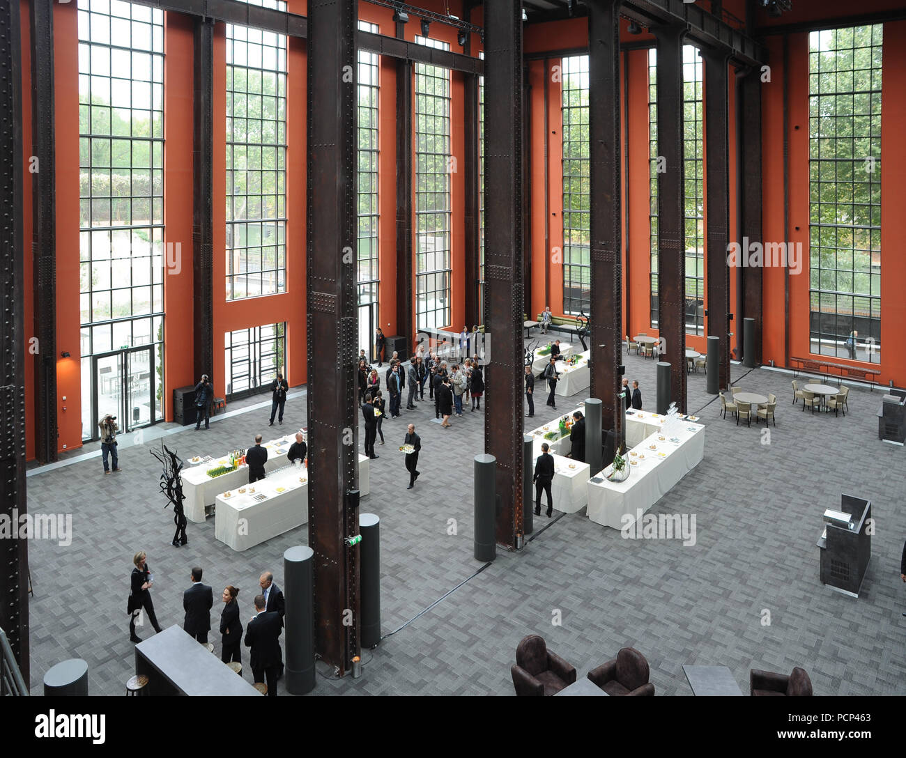 September 21, 2012 - Saint-Denis, France: French filmmaker Luc Besson unveils his 'cinema city' (Cite du Cinema) on the edge of Paris. The 170-million-euros project is the largest film studio facility ever built in France, which earned it the nickname 'Hollywood on Seine'. The former art deco power station compound houses nine state-of-the-art film sets, 20,000sq metres of office, and several carpentry, model-making, and costume workshops. *** FRANCE OUT / NO SALES TO FRENCH MEDIA *** - Stock Image