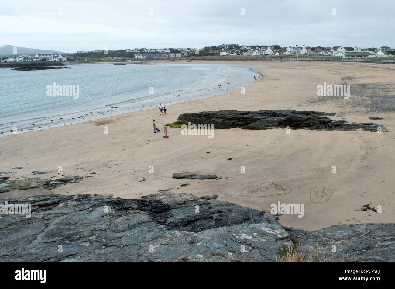 Trearddur bay Anglesey - Stock Image