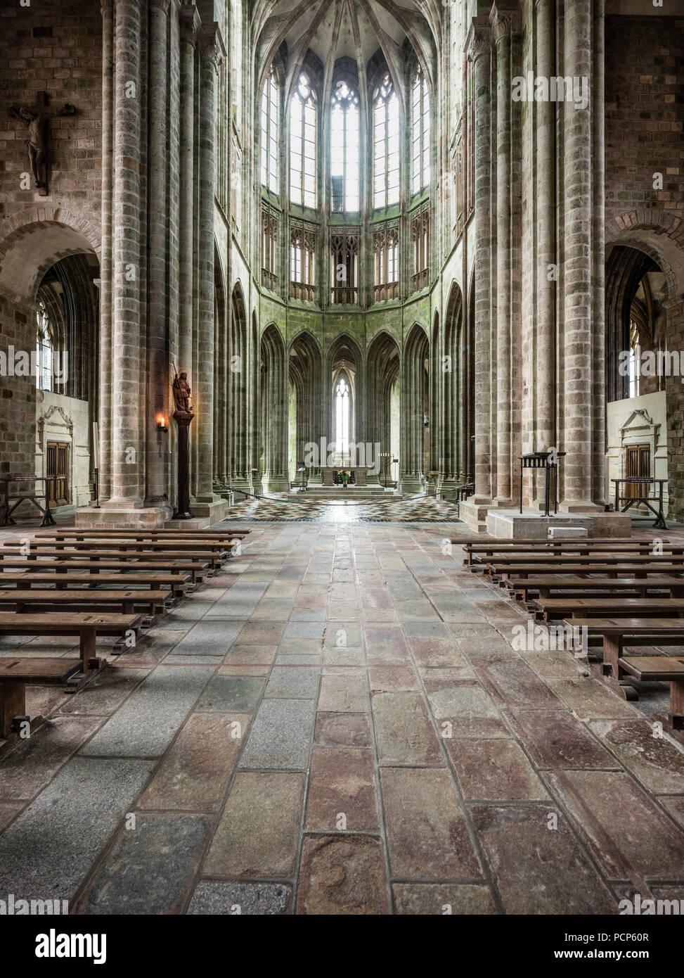 Mont Saint Michel Abbey Interior Stock Photos Mont Saint Michel