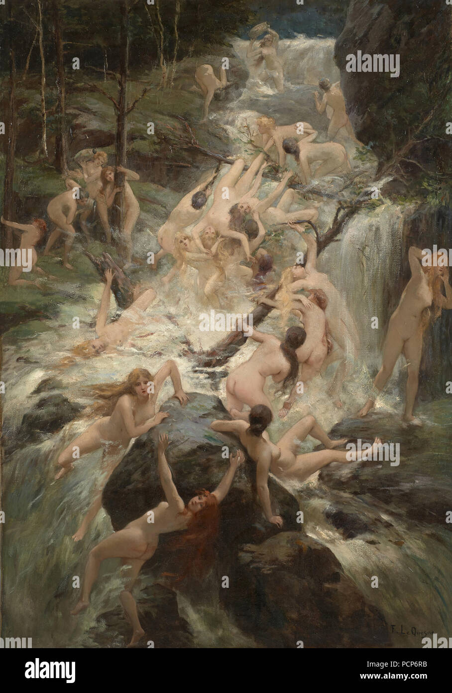 The torrent. Private Collection. - Stock Image