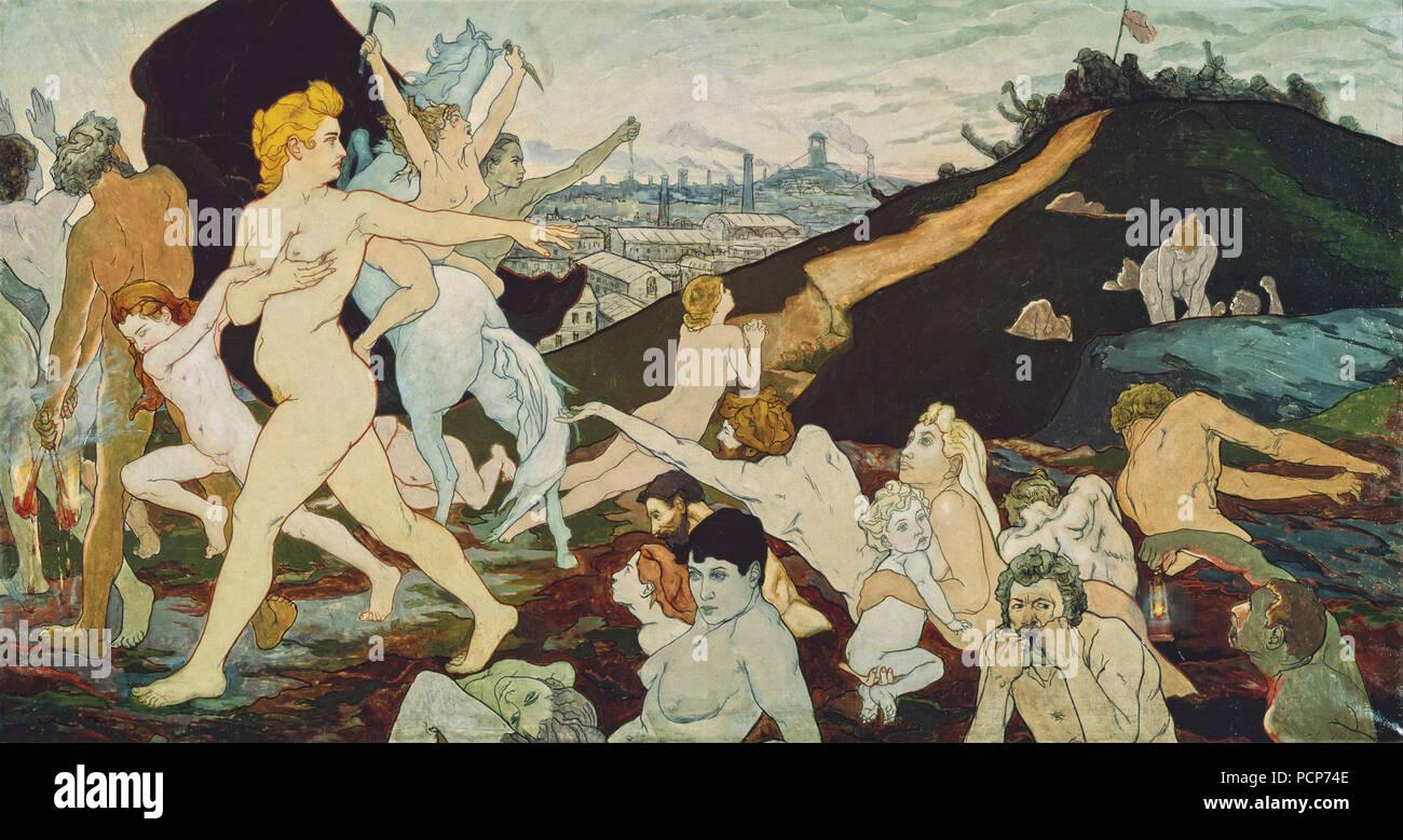 The Dawn of Labor (L'Aurore du travail), ca 1891. Found in the Collection of Musee d'art moderne et contemporain, Saint-Étienne Métropole. - Stock Image