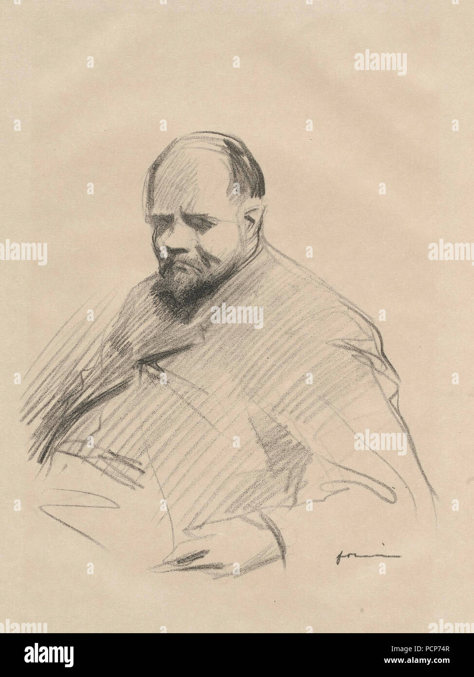 Portrait of Ambroise Vollard (1865-1939), c. 1910. Private Collection. - Stock Image