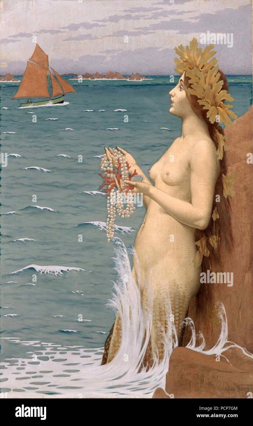 The Siren (La Sirène), 1896. Found in the Collection of Musee d'art moderne et contemporain, Saint-Étienne Métropole. - Stock Image