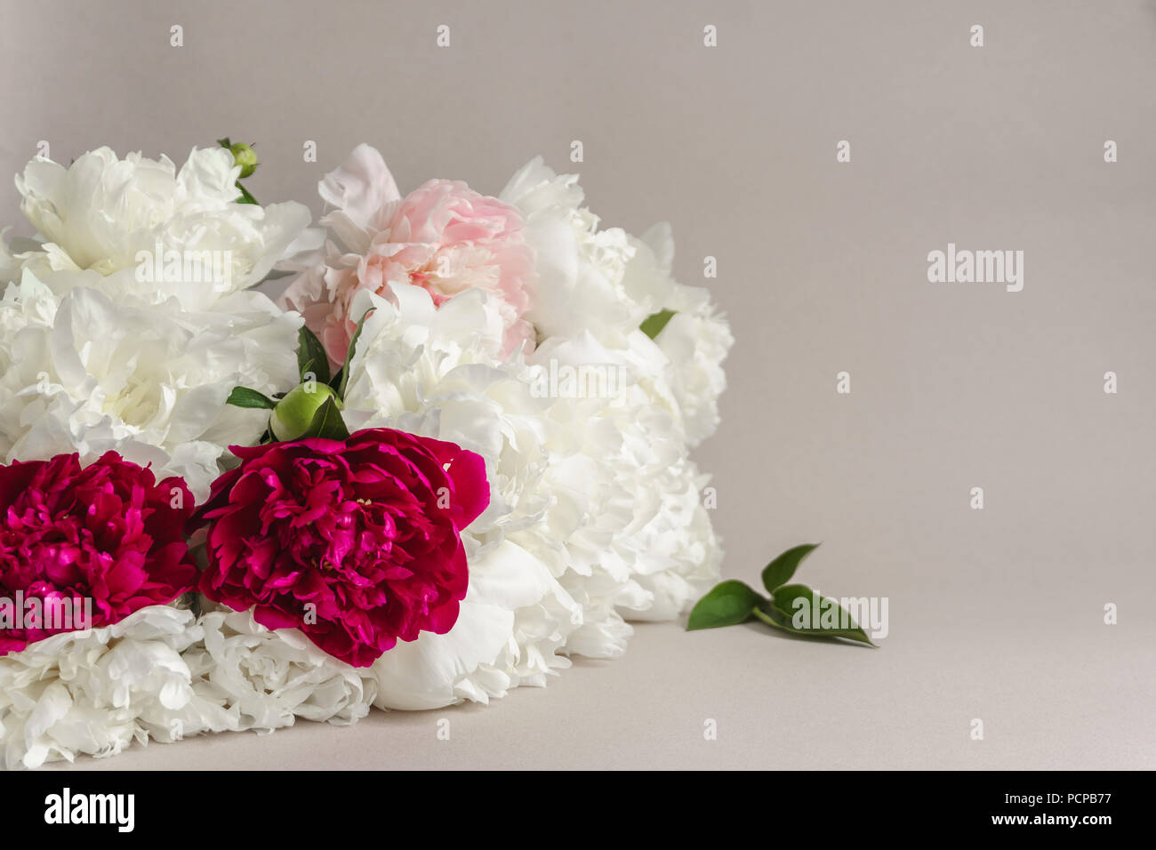 Luxury bouquet of peonies. Gorgeous flowers for the bride\'s bouquet ...