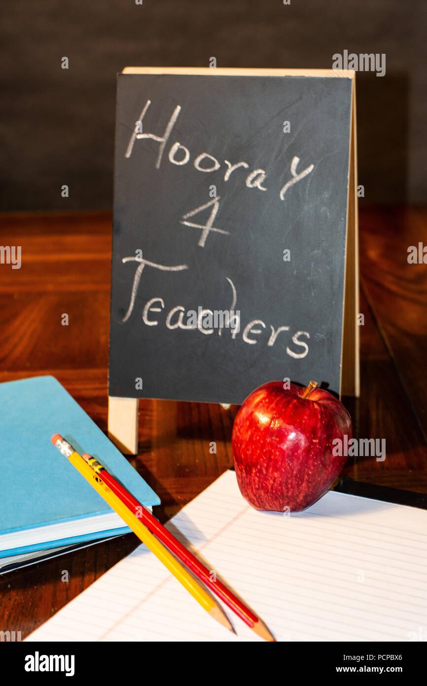 Teacher appreciation apple - Stock Image