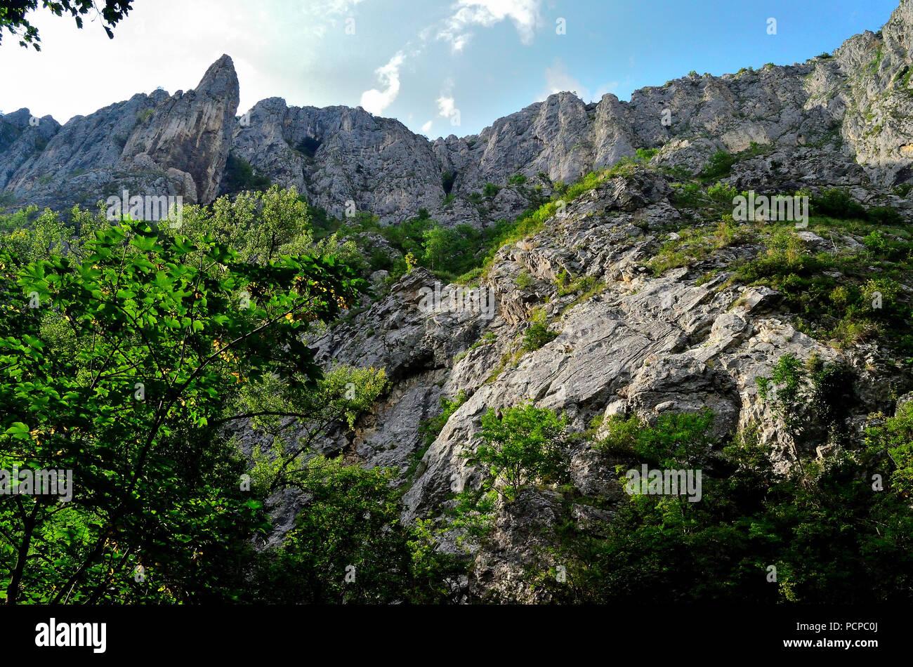 Big Mountains of Turda, The Cheile Turzii - Stock Image