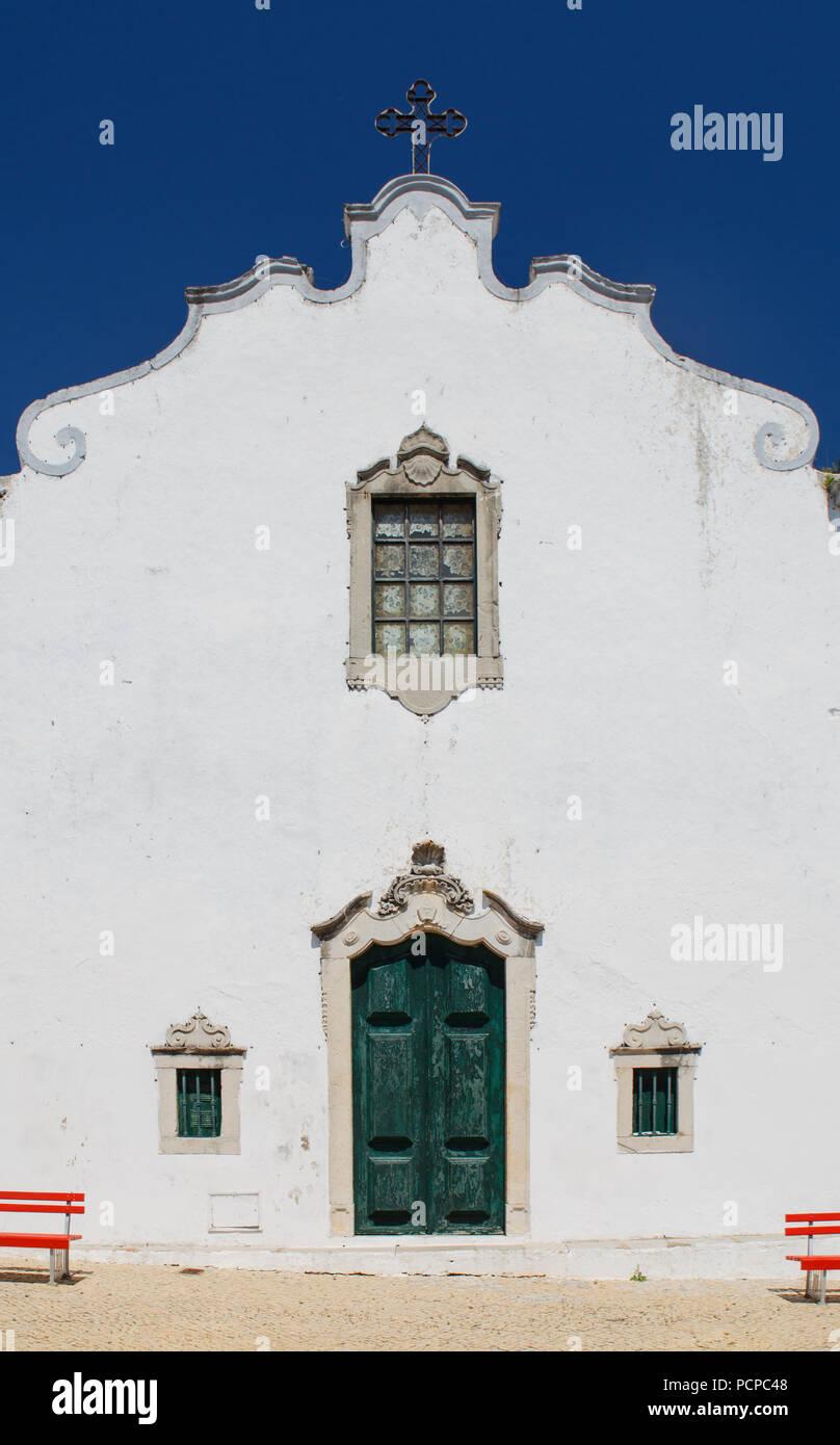Alvor Church Algarve Portugal Travel Religion White Yellow