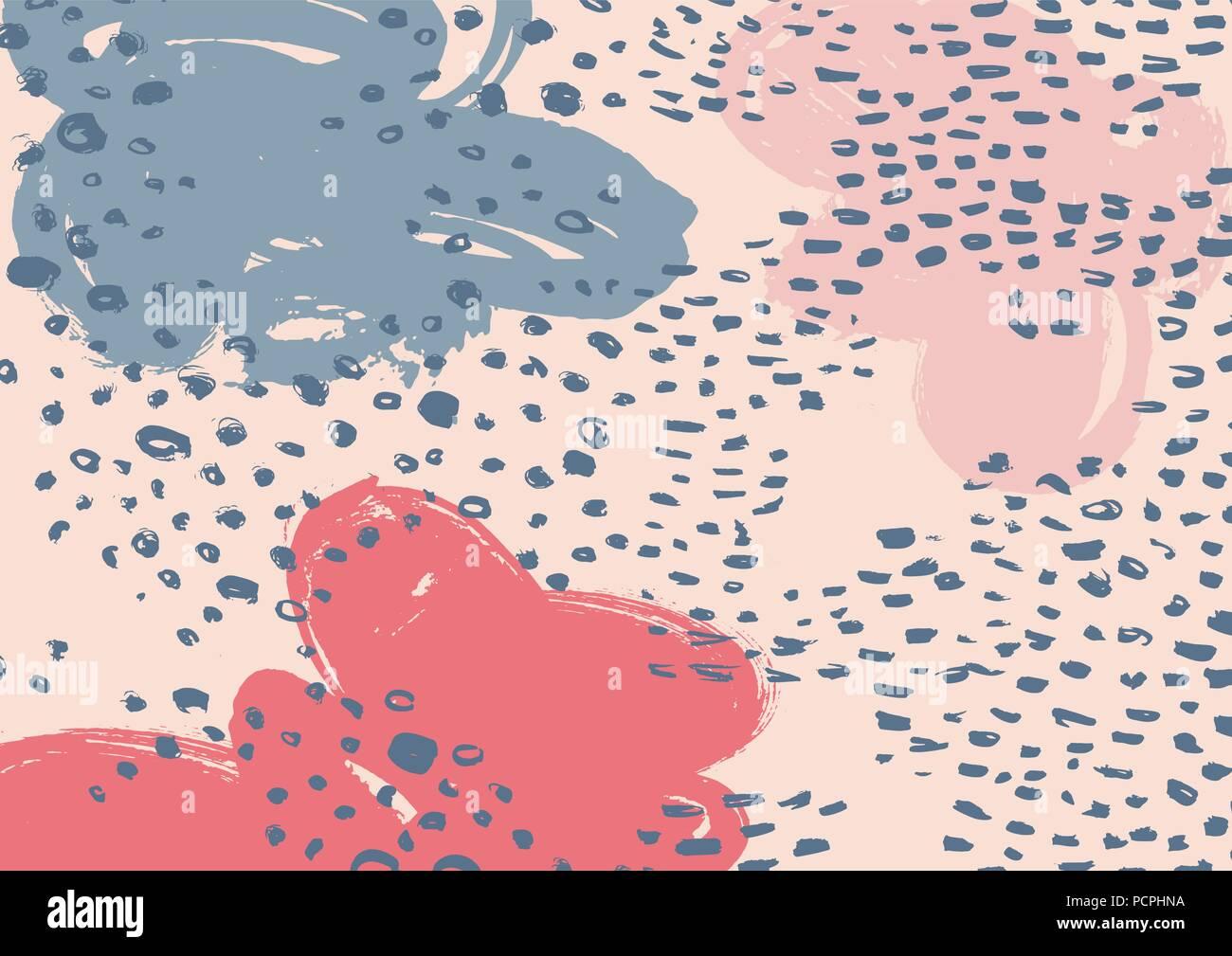 Vector brush strokes pattern - Stock Image