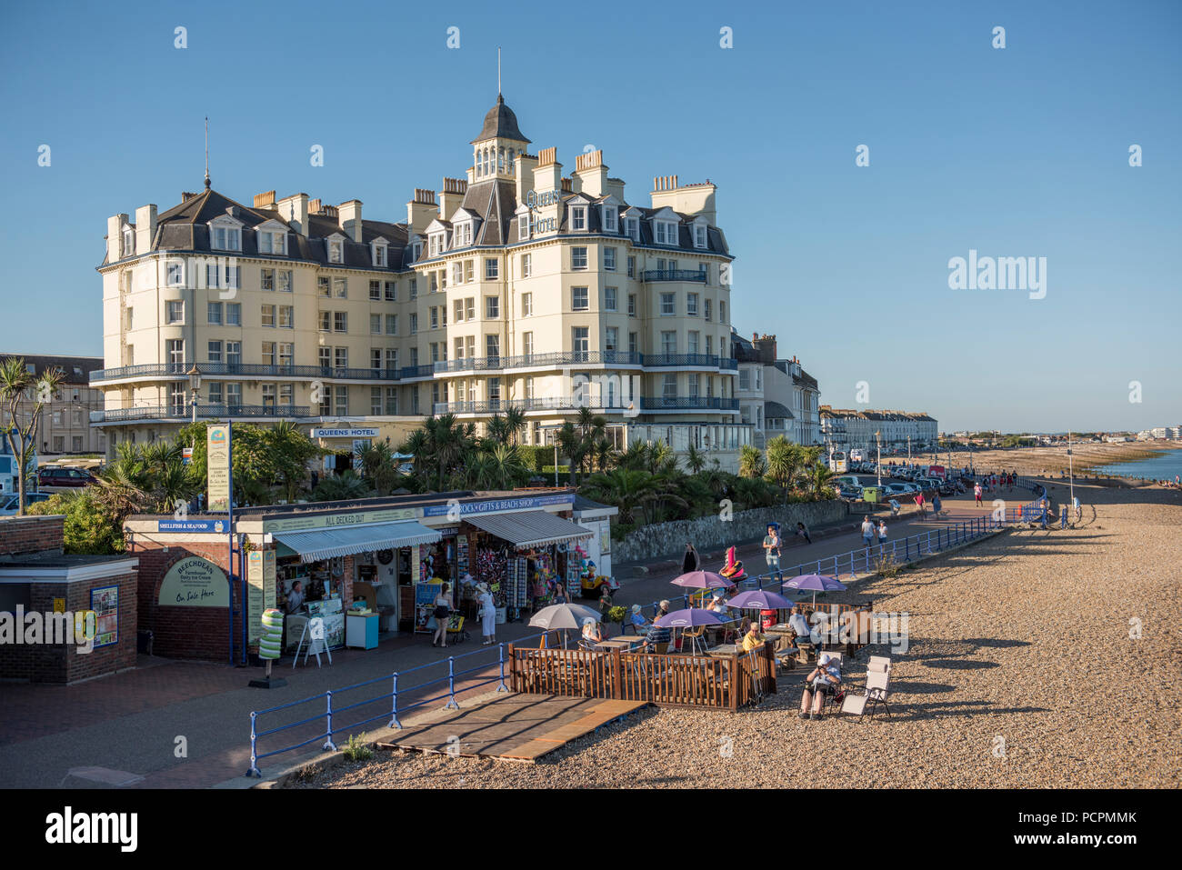 The Queens Hotel on the seafront at Eastbourne, East Sussex