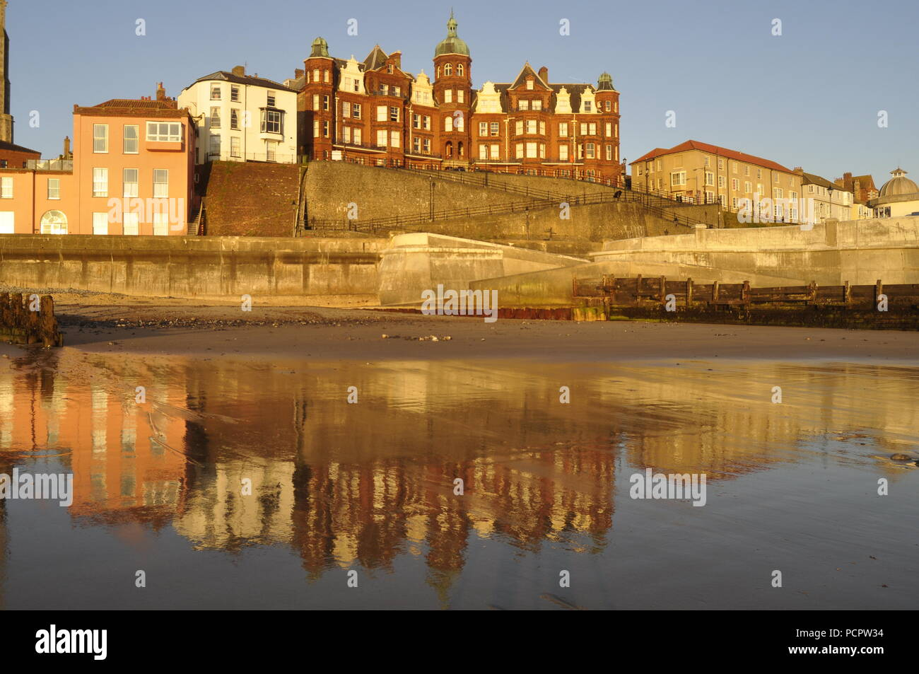 The Hotel de Paris on Cromer seafront, Norfolk, England UK Stock Photo