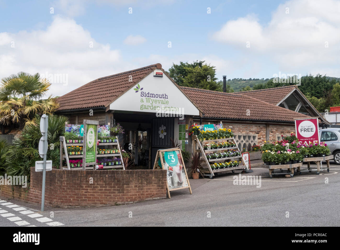 Wyevale garden centre, Sidmouth. The Wyevale chain, including the Sidmouth store, is up for sale. - Stock Image