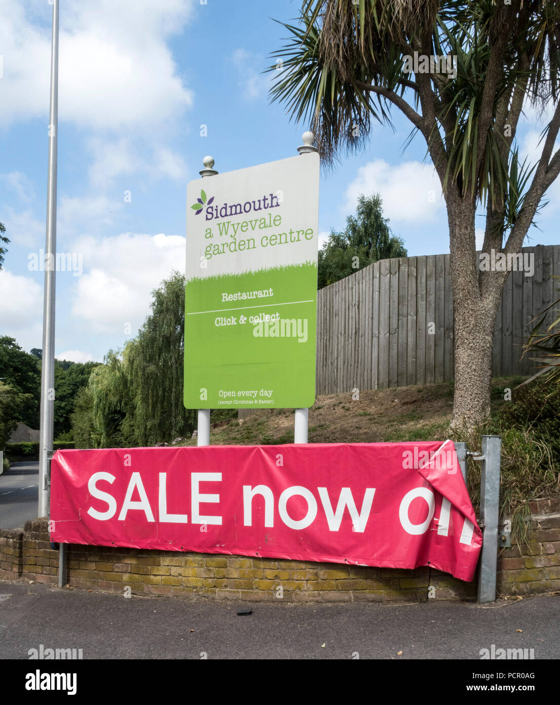 Wyevale up for sale.... Wyevale garden centre, Sidmouth. The Wyevale chain, including the Sidmouth store, is up for sale. - Stock Image