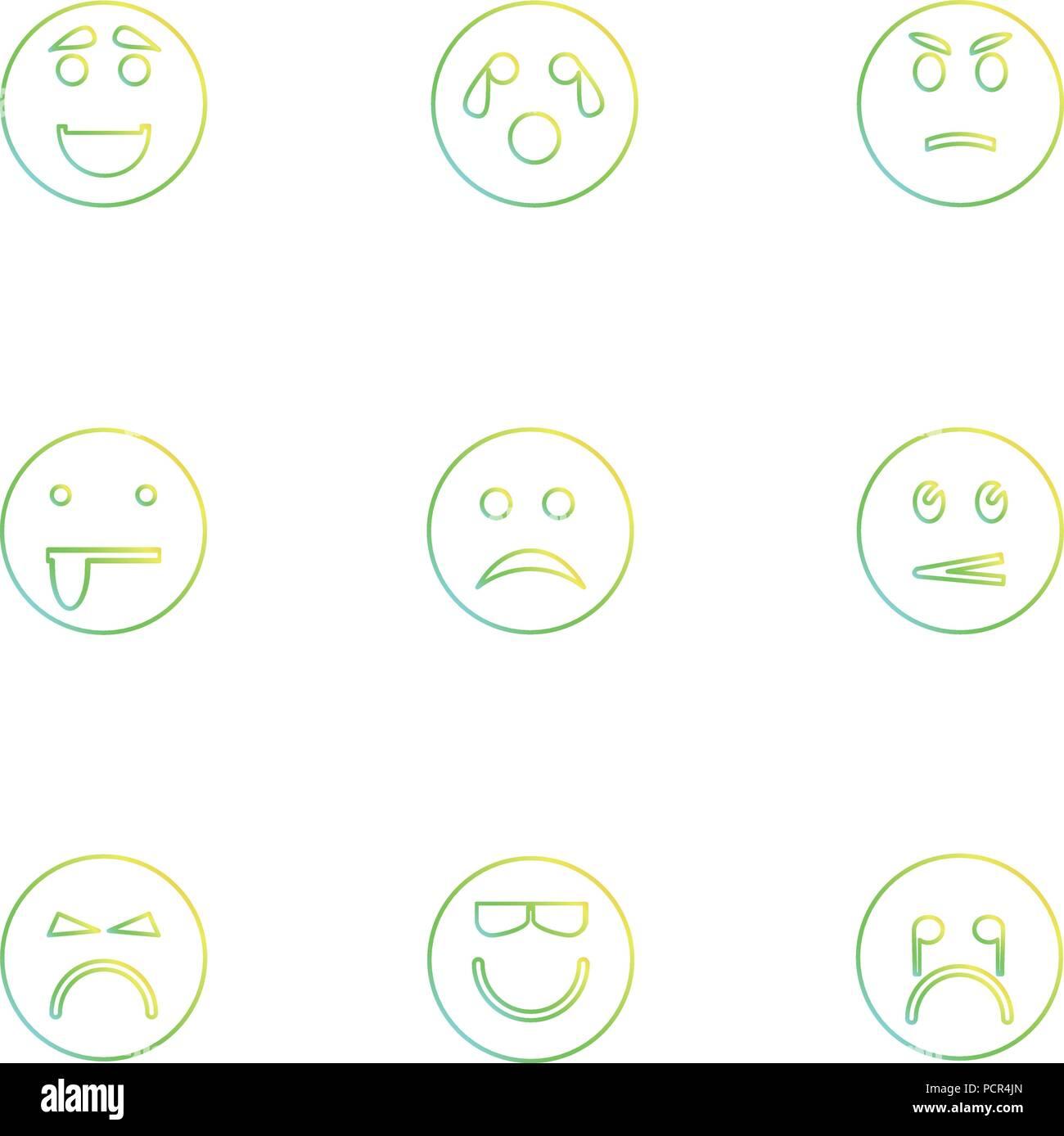 Emoji , emoticons , eomtions , smileys , sad , happy, cry , laugh