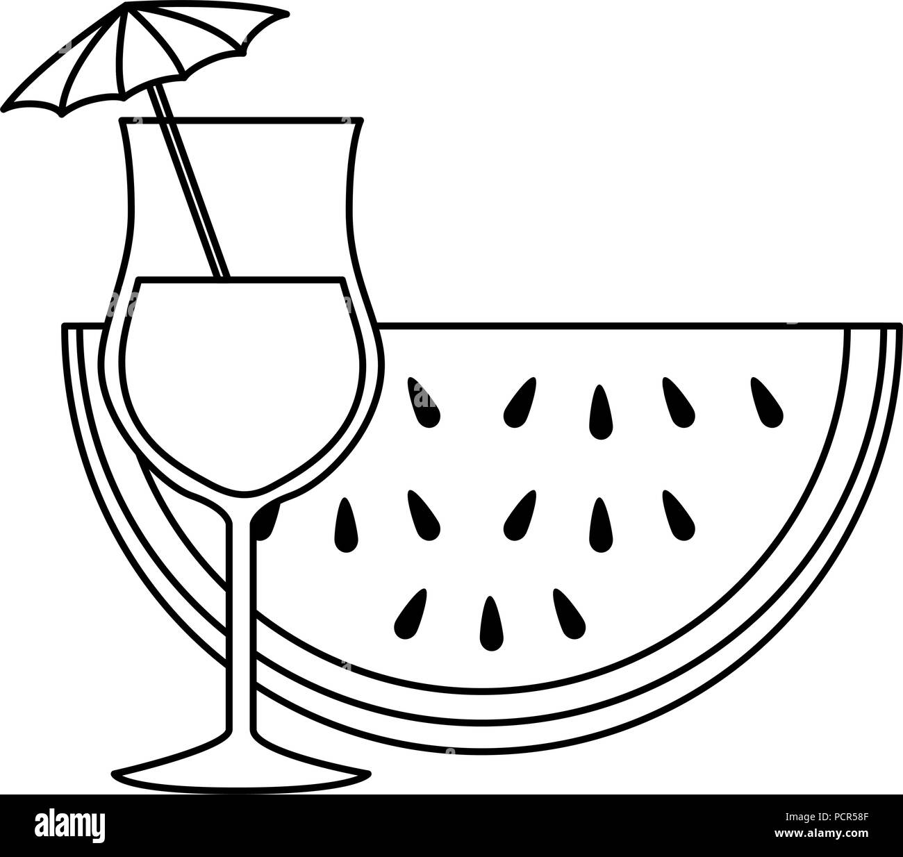 Watermelon half black and white stock photos images alamy