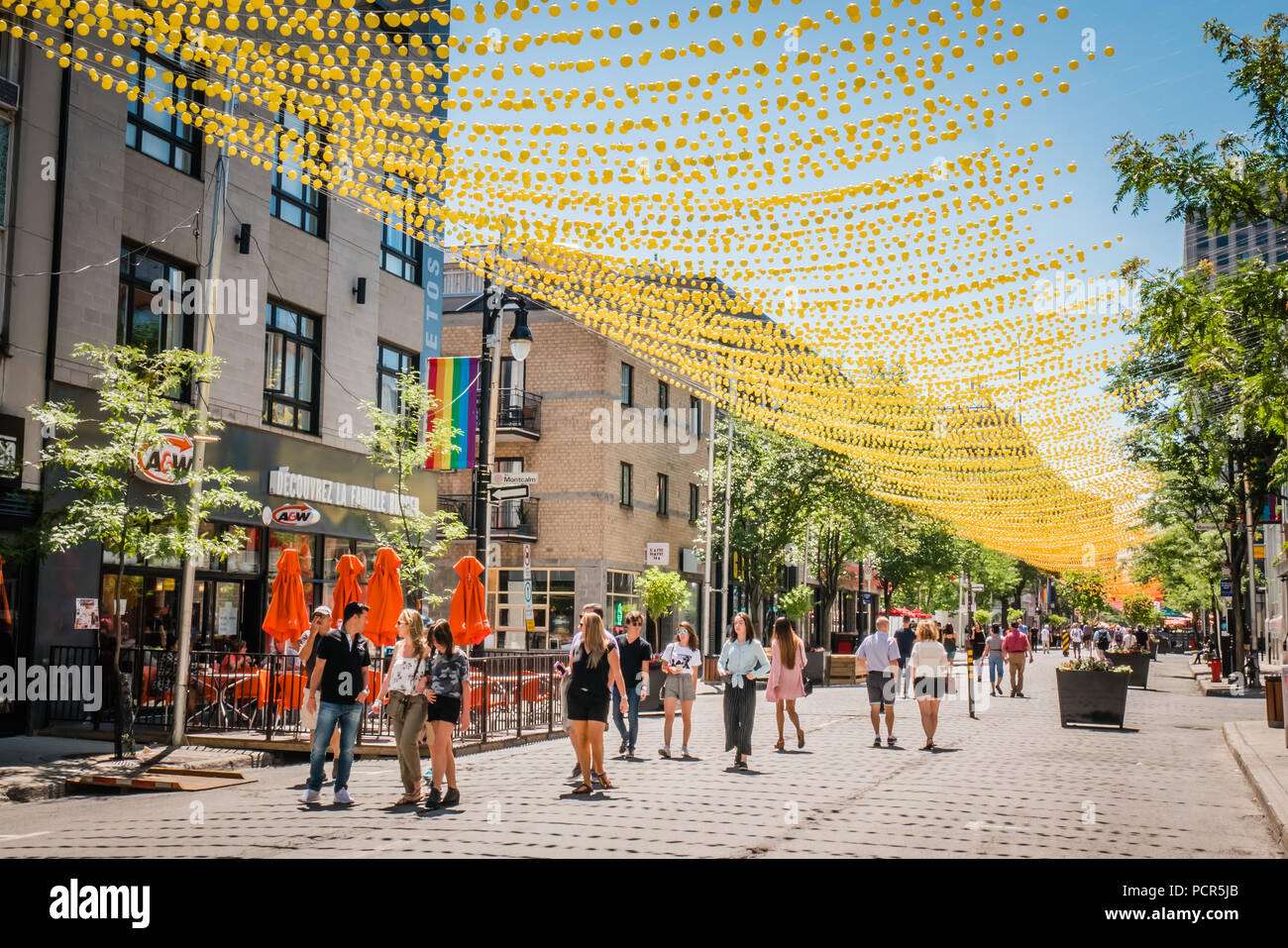 Montreal Gay Village - Stock Image