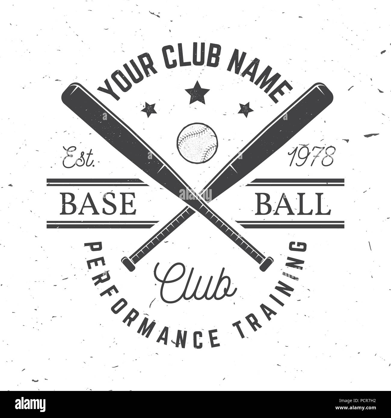 Baseball club badge  Vector illustration  Concept for shirt or logo