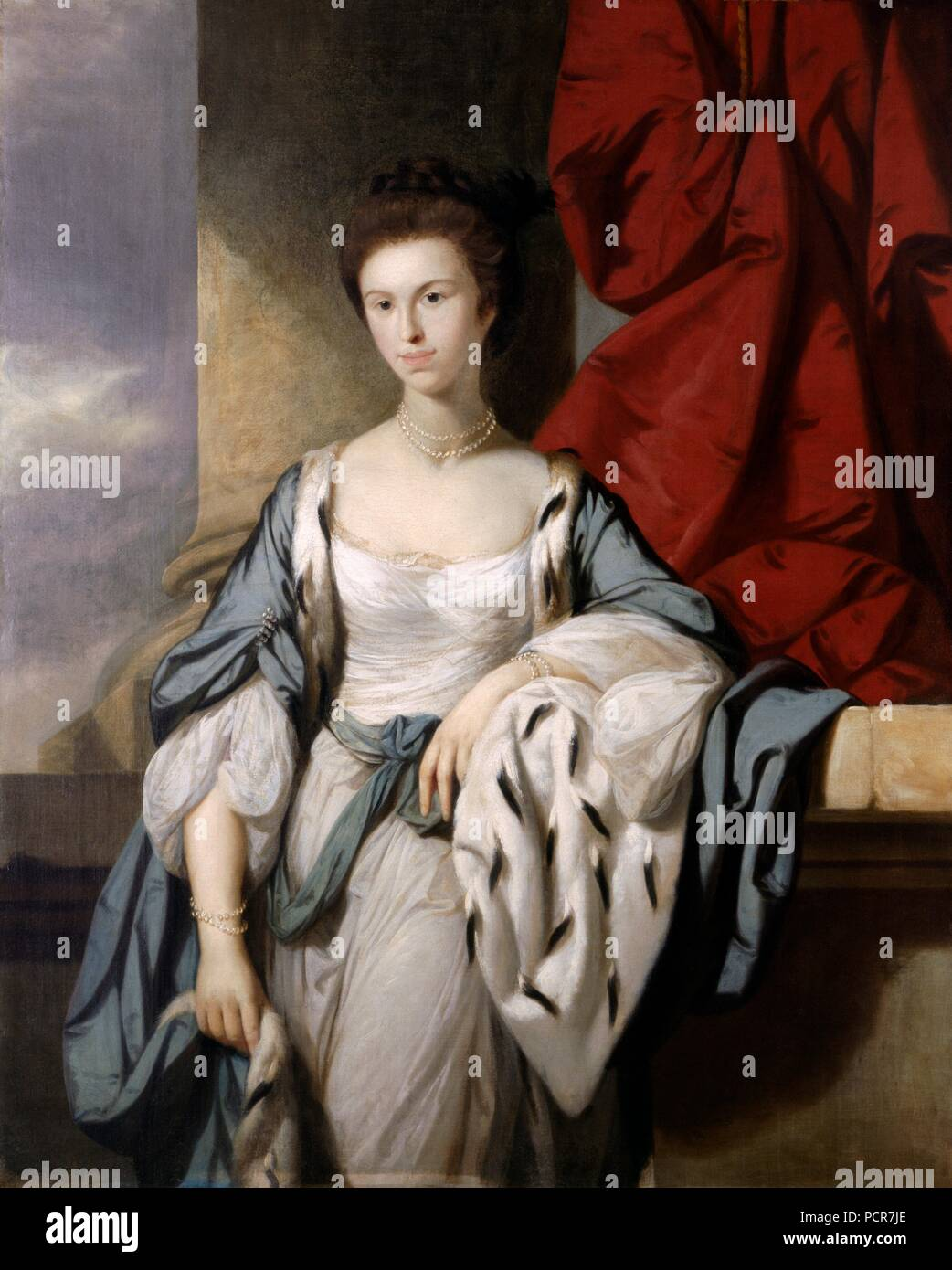 'Maria Constantina Trevor, Countess of Suffolk', 18th century. Painting in Kenwood House, London, from the Suffolk Collection. - Stock Image
