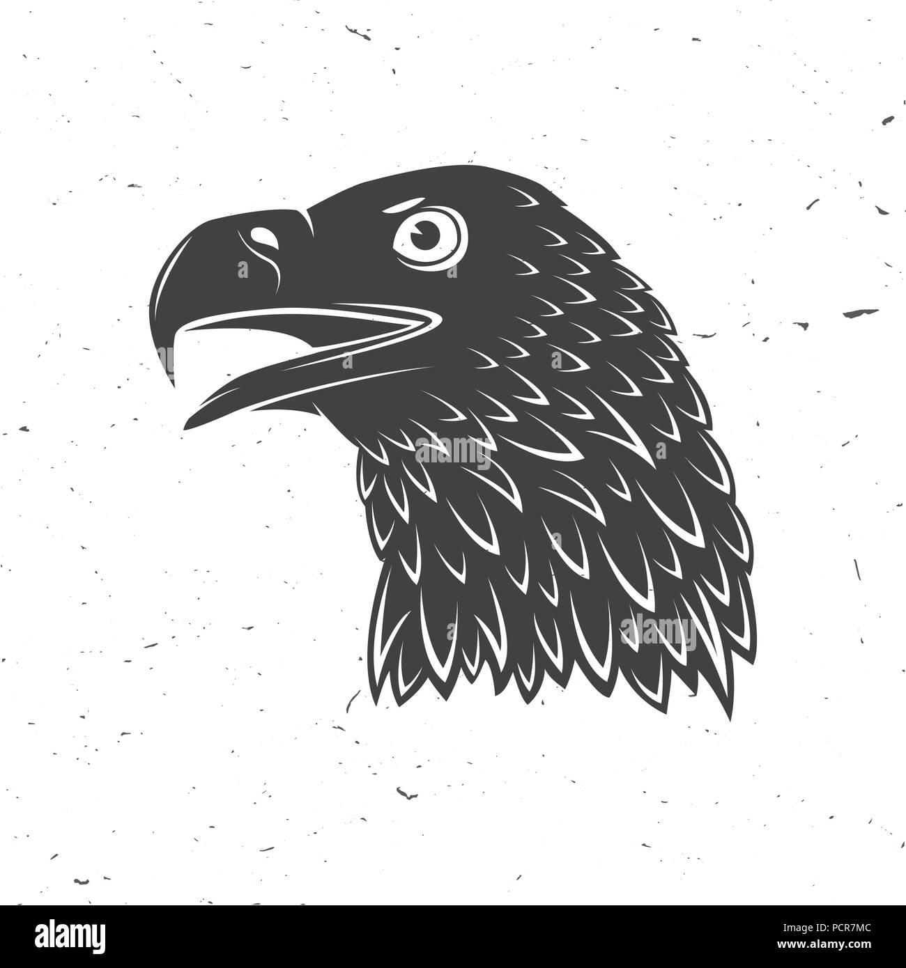 Head Of Golden Eagle Vector Illustration Bird Symbol Of Powerful