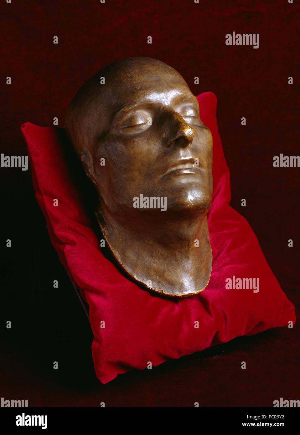 Napoleon's death mask on display in the Basement Gallery, Apsley House, London, c1980-c2017. - Stock Image