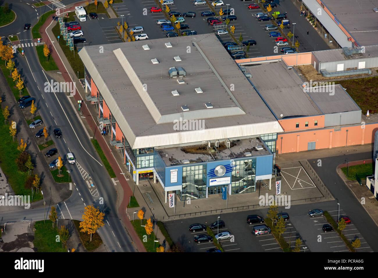 Westpress Arena, Hamm, Ruhr area, North Rhine-Westphalia, Germany - Stock Image