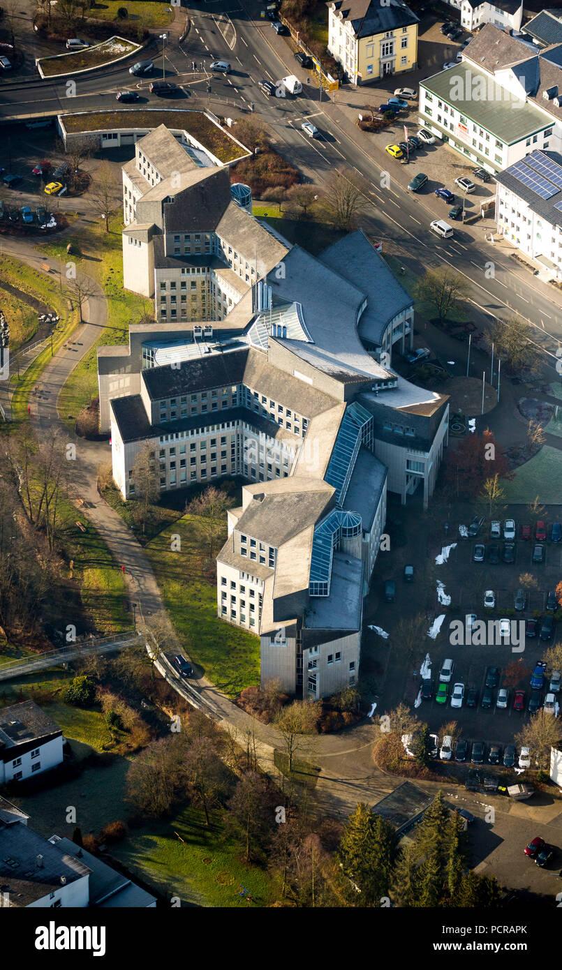HSK Hoch-Sauerland-Kreis Kreishaus in Meschede, district administration, Meschede, Sauerland, North Rhine-Westphalia, Germany - Stock Image