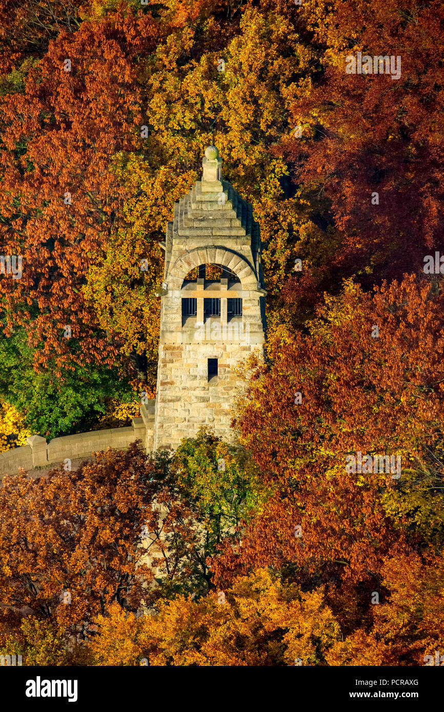Berger monument in the recreational area Hohenstein, Witten, Ruhr area, North Rhine-Westphalia, Germany - Stock Image