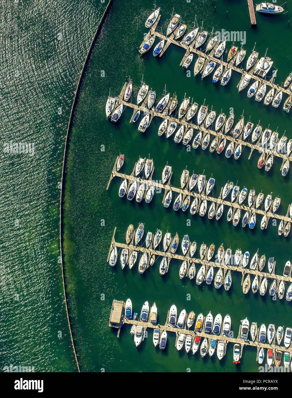 Marina Neustadt Holstein, Sailboats, Marina An der Wiek, Neustadt in Holstein, Bay of Lübeck, Hanseatic City, Schleswig-Holstein, Germany - Stock Image