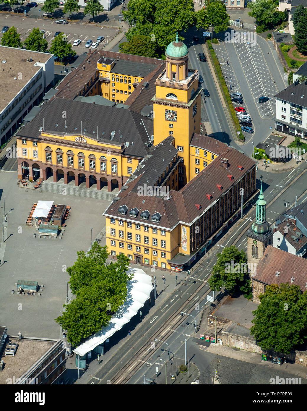 Townhall Witten, Witten, Ruhr area, North Rhine-Westphalia, Germany - Stock Image