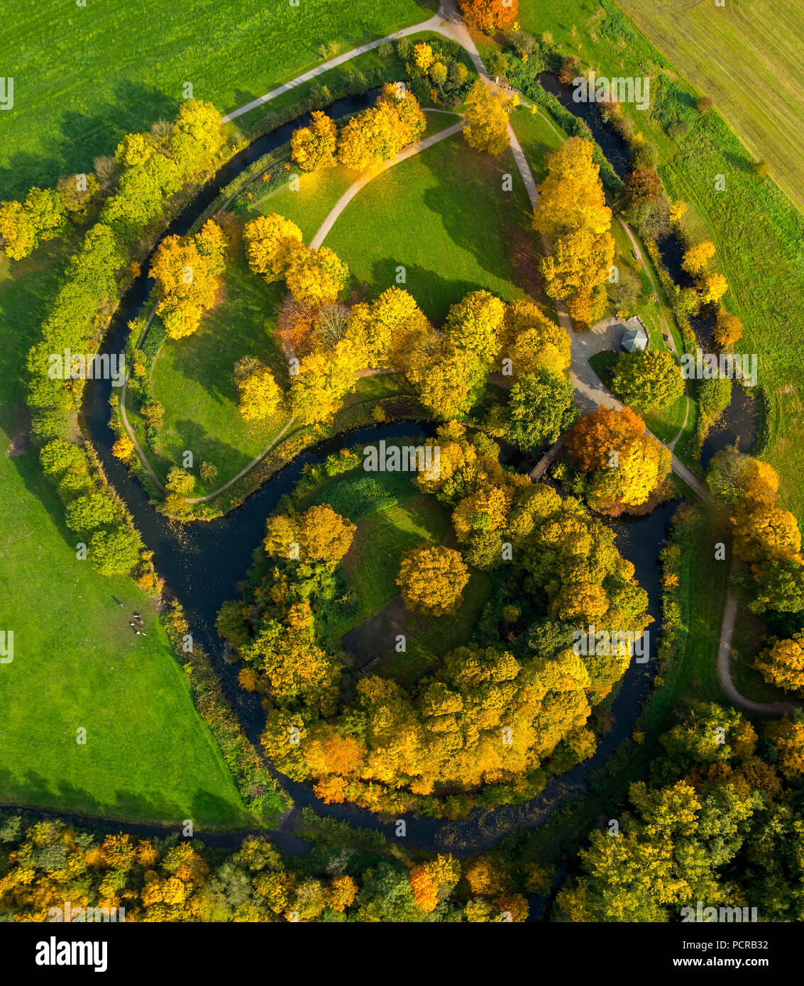 Castle Hill Mark, nucleus of the city of Hamm, former site of the castle Mark, Hamm, Ruhr area, North Rhine-Westphalia, Germany - Stock Image