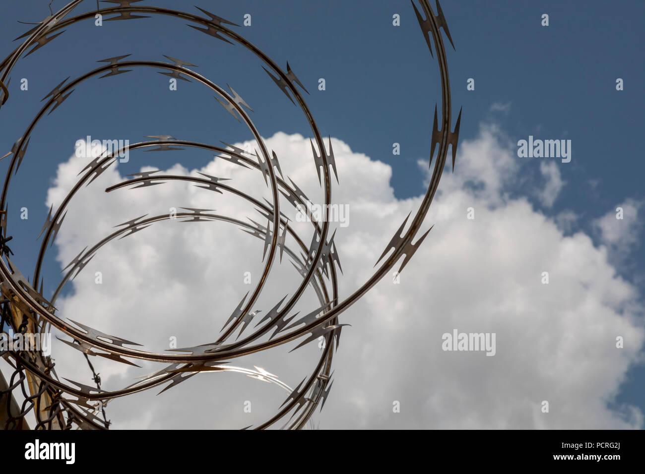 Razor Wire Stock Photos Amp Razor Wire Stock Images Alamy