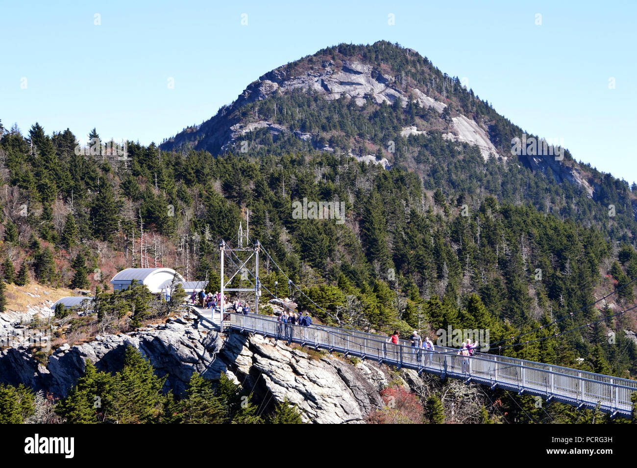 Mile High Suspension Bridge At Grandfather Mountain Nc