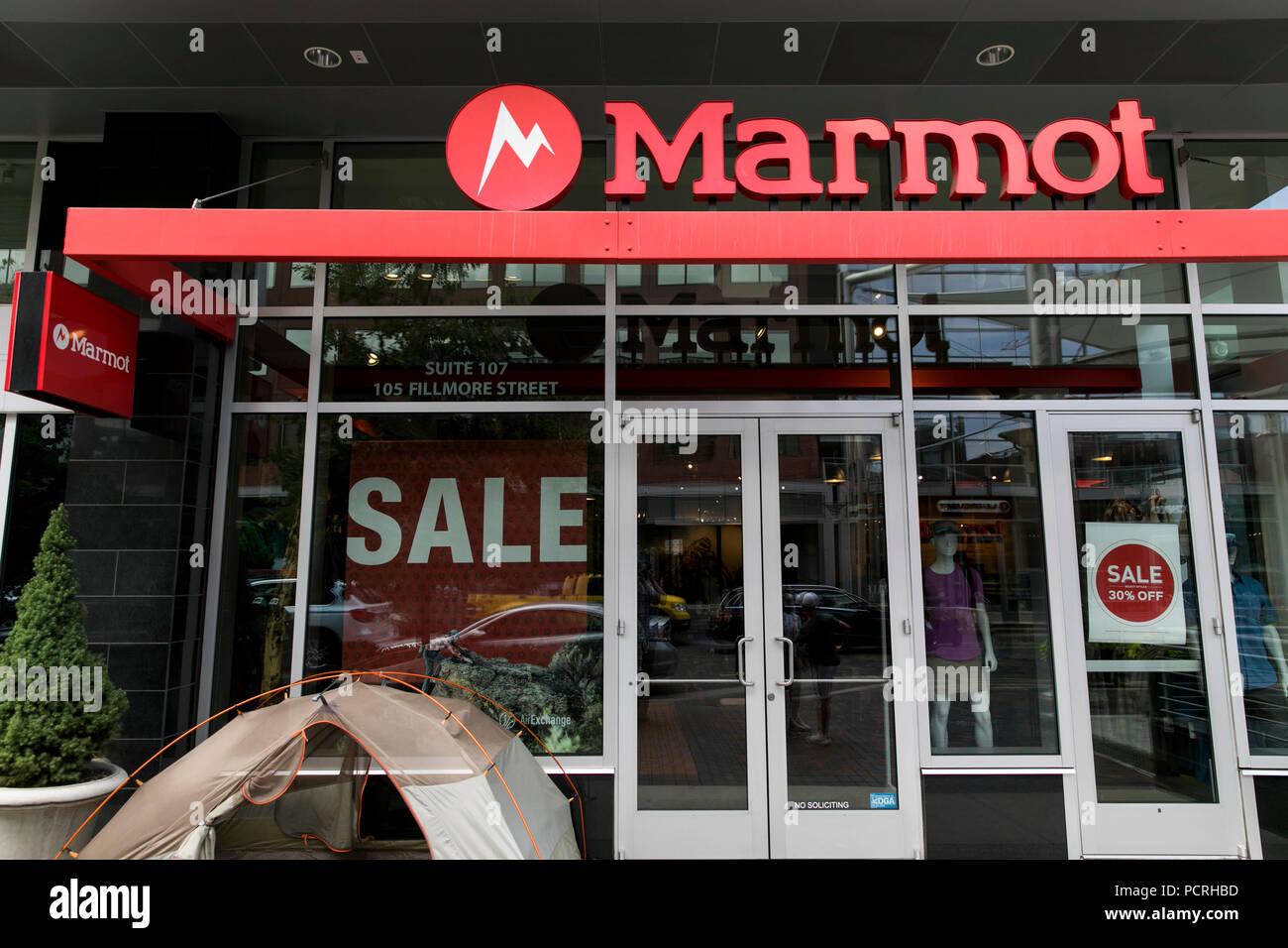 A Logo Sign Outside Of Marmot Mountain Retail Store Location In Denver Colorado On July 23 2018