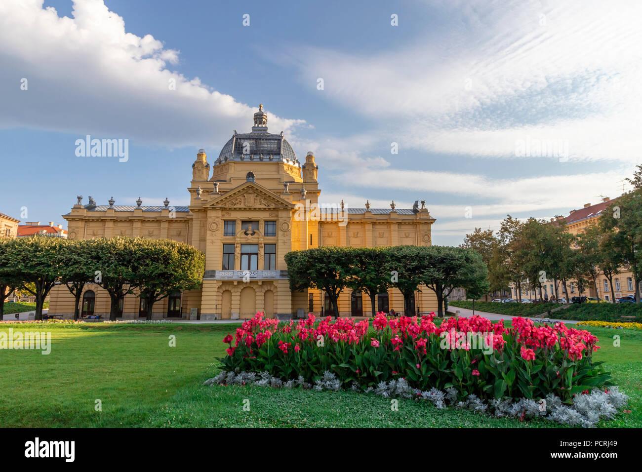 King Tomislav park in Zagreb on a sunny day Stock Photo
