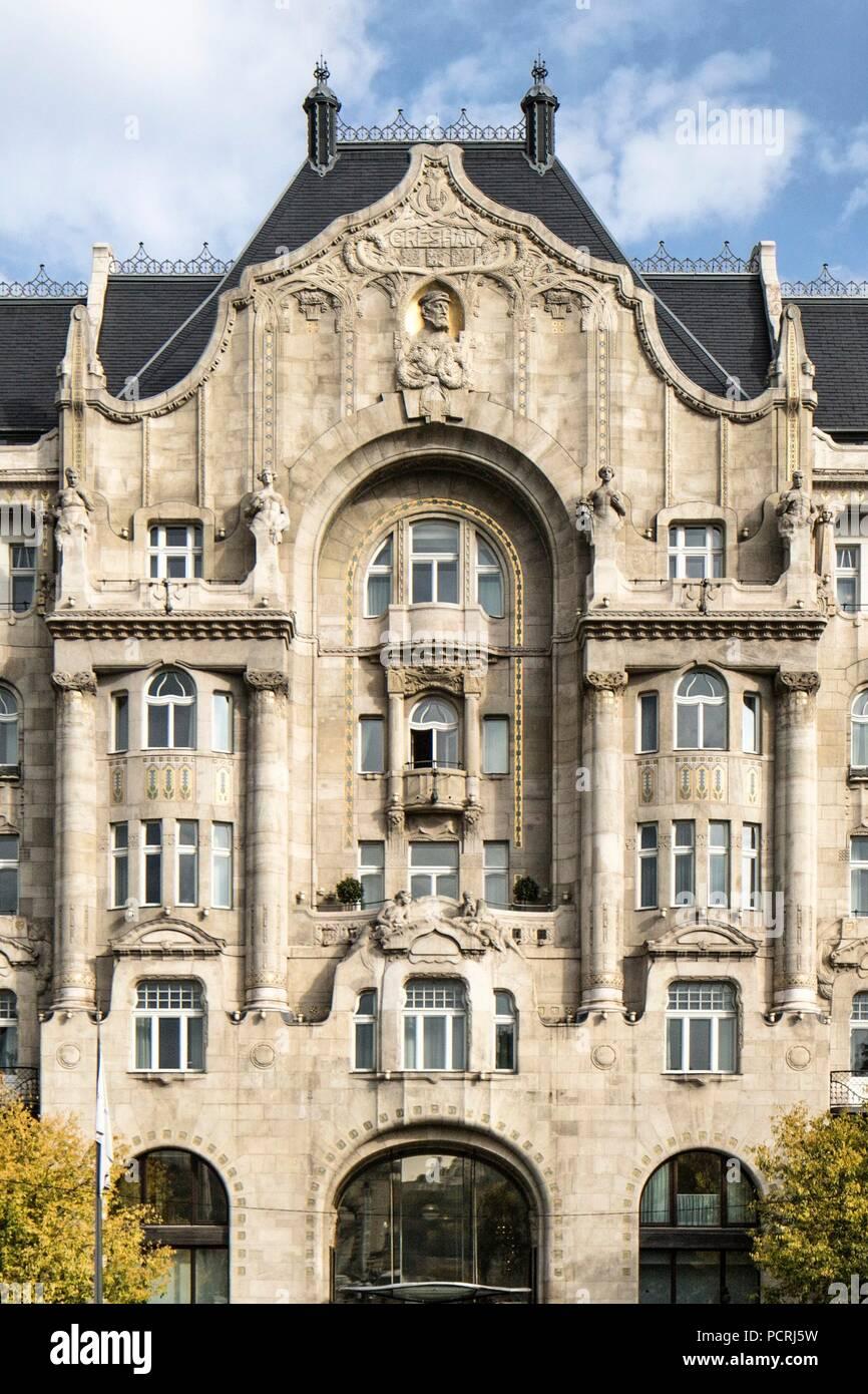 Former Gresham Palace. Azigismond Quittner (architect): 1905-7. - Stock Image