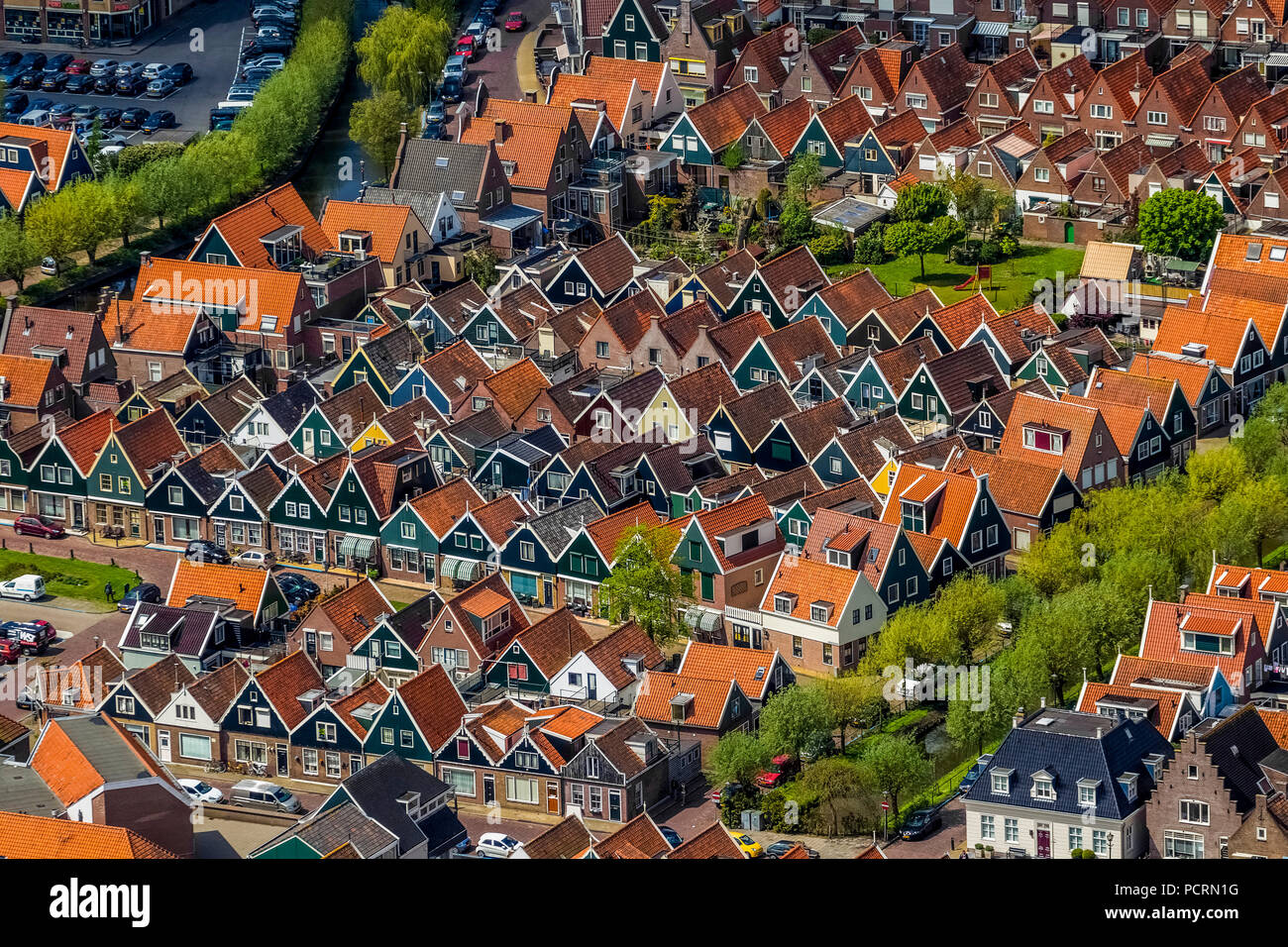 Volendam at Markermeer, North Holland, Volendam, North Holland, Netherlands - Stock Image