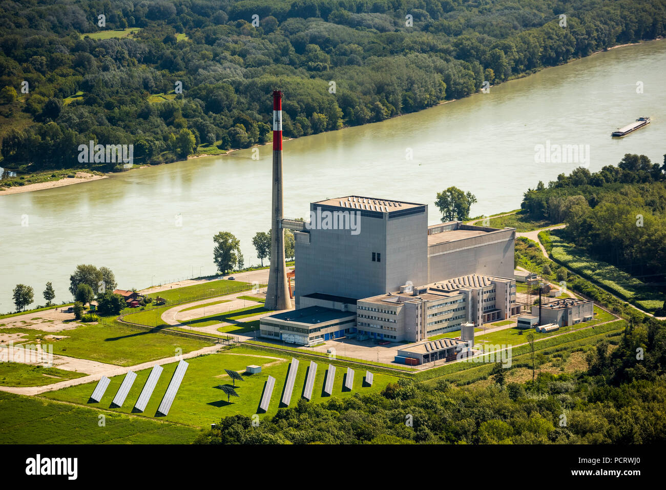 Boiling Water Reactor Stock Photos Power Plant Diagram Aerial View Nuclear Zwentendorf Tullnerfeld