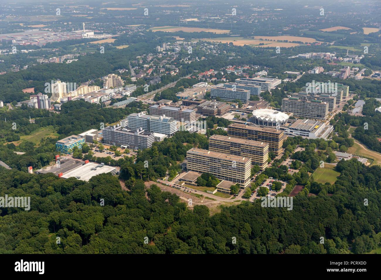 Ruhr University Bochum RUB, aerial view of Bochum - Stock Image