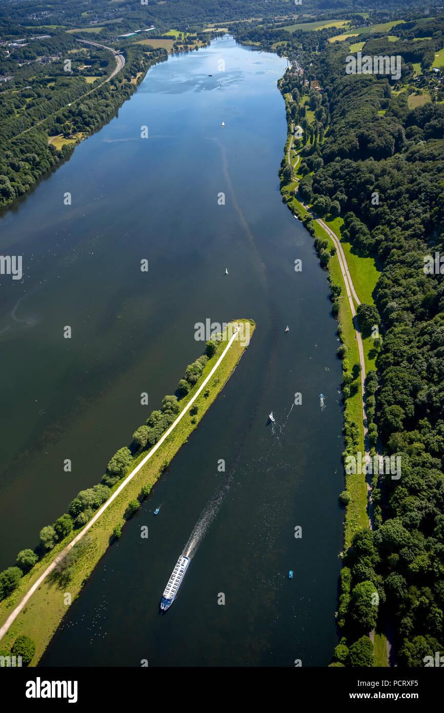 Kemnader Reservoir, Witten, Ruhr area, North Rhine-Westphalia, Germany - Stock Image