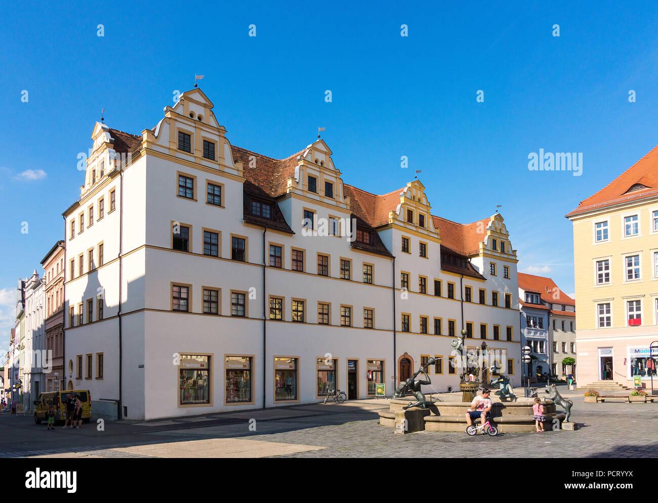 Elbe Cycletour, Saxony, Torgau, market Stock Photo