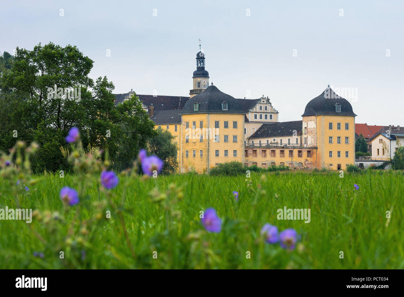 Elbe Cycletour, Coswig (Anhalt), castle, aristocratic seat - Stock Image